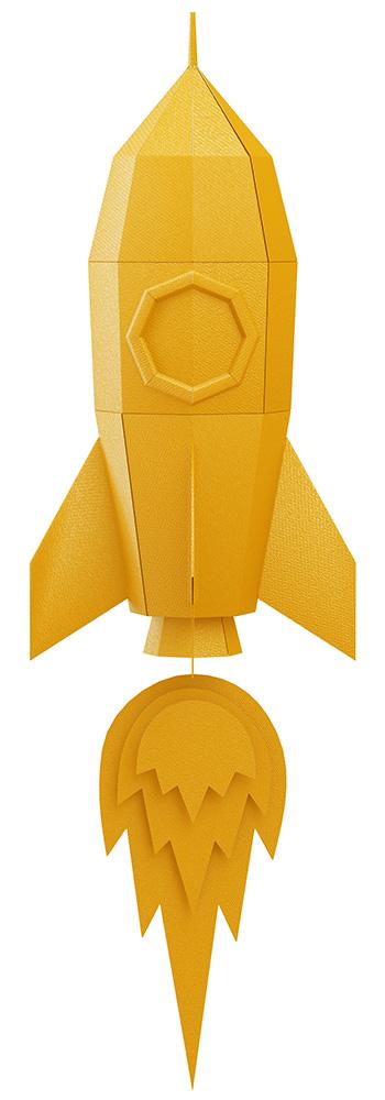 Paper craft rocket